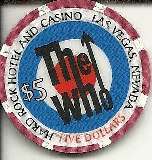 $5 hard rock hotel the who las vegas nevada casino chip