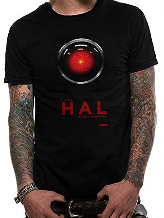 T-Shirt (Unisex-S) Hal 9000 (Black)
