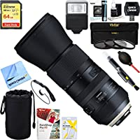 Tamron (AFA022N-700) SP 150-600mm F/5-6.3 Di VC USD G2 Zoom Lens for Nikon Mounts + 64GB Ultimate Filter & Flash Photography Bundle