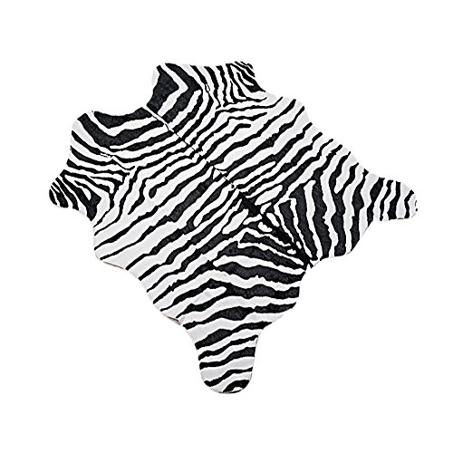 MustMat Faux Zebra Print Area Rug 4.5x5.2 Feet Cute Soft Black and White Animal Print Carpet For Jungle/Safari Theme Child's Room