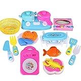sesame street play dishes - Lanlan Children Plastic Simulation Kitchenware Foods Sets Pretend Play Cooking Utensils Toys Gifts 17pcs/set
