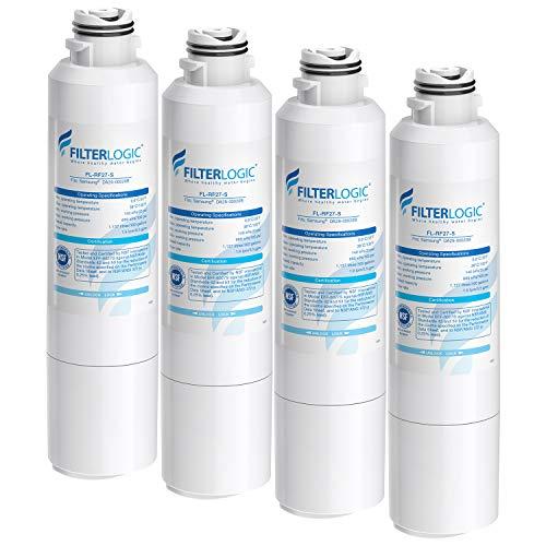 FilterLogic NSF 53&42 Certified DA29-00020B Refrigerator Water Filter, Replacement for Samsung DA29-00020A/B, HAF-CIN, HAF-CIN/EXP, DA97-08006A, Kenmore 46-9101, RF28HMEDBSR, RF4287HARS (Pack of 4)