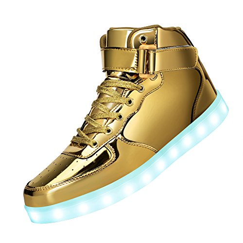 Metallic Gold Mens Shoes - 1