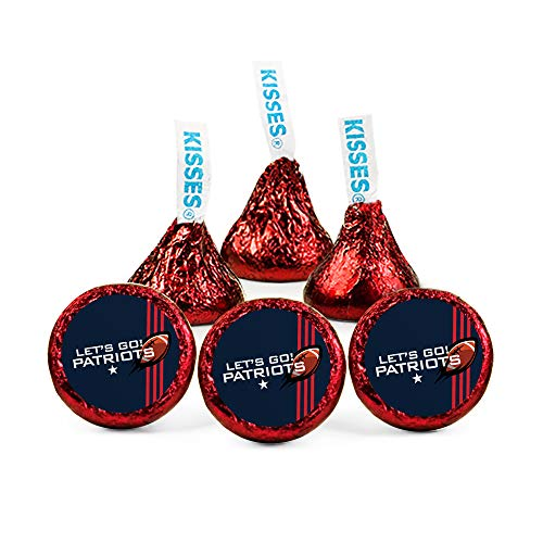 (Patriots Football Party Favors Stickers for Hershey's Kisses Candy (108)