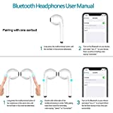 Bluetooth Earbuds Wireless in-Ear Bluetooth Headsets Sweatproof True Wireless Headphones with Noise Cancelling Earphones with Mic for iPhone iPad Samsung and All Smartphones– White