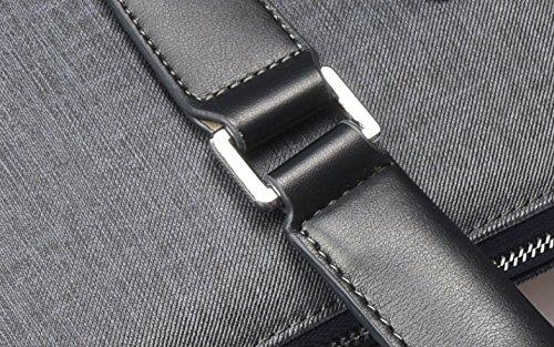 Männliche Beutel-Geschäfts-Mann-Handtaschen-Querabschnitt-Aktenkoffer-Schulter-Kurier-Beutel Der Beiläufigen Männer Beutel-Computer-Beutel,Black-38*30*7cm