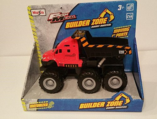 Maisto® Fresh Metal Builder Zone Quarry Monster - Red Brush Fire Dump Truck - Motorized (Motorized Vehicle)
