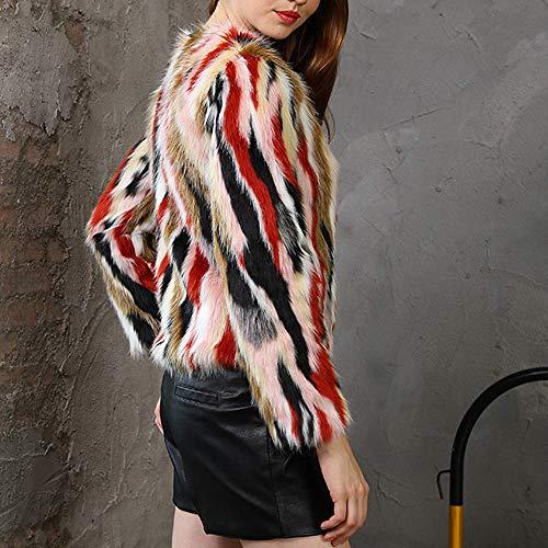 Escudo Cardigan Mujer Abrigo Cálido Chaqueta Tamaño Outwear Invierno Prendas Señoras M De color Multicolored2 Casual Grueso Zhrui Las Parka Overout Faux 1pqd1a