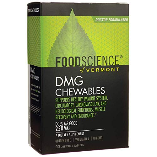 FoodScience of Vermont DMG Chewables, 250 mg Aangamik DMG Immune System Support, 90 Chewable Tablets