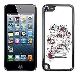 Be Good Phone Accessory // Dura Cáscara cubierta Protectora Caso Carcasa Funda de Protección para Apple iPod Touch 5 // The Majestic Horse