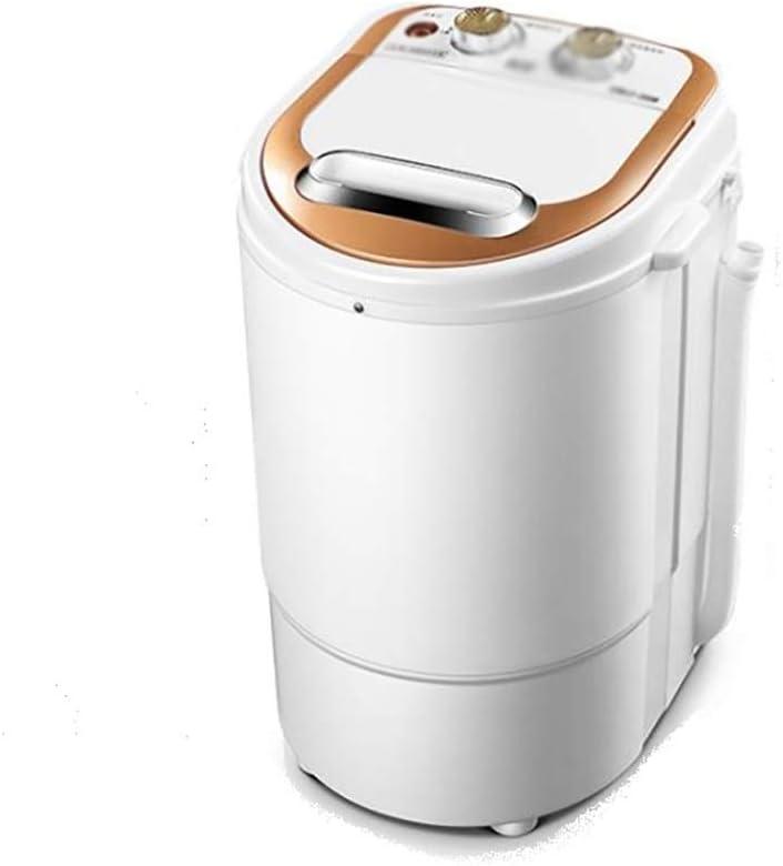 XXYJ Lavadora portatil Lavadora Semi-automática con la Bomba de Drenaje, 3kg Gran Lavadora Capacidad, Lavadora pequeña, Lavadora Semi-automático, Ahorrar Espacio (Color : A)