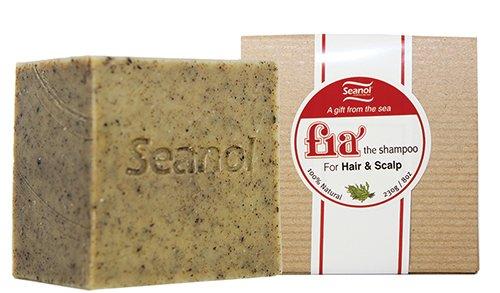 Fia Soap, 100% Natural Bar Soap for Hair & Scalp, Add volume to the hair, Seanol, Houttuynia cordata, Peppermint Essential oil 8 oz(230g) +