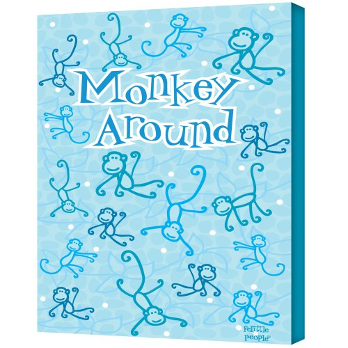 UPC 639737054897, Felittle People Monkey Around Gallery Wrapped Canvas Art, 14 by 18-Inch