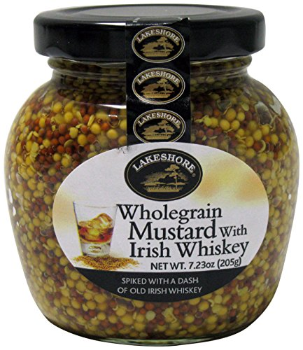 Lakeshore Wholegrain Mustard with Irish Whiskey, 7.23 Ounce
