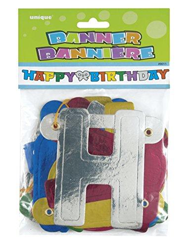 4ft Metallic Happy Birthday Banner