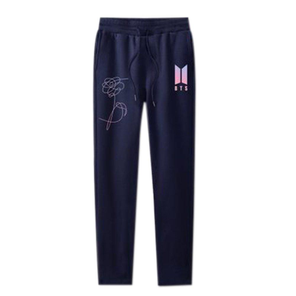 Unisex Kpop BTS Pants Fans Pullover Hip Hop Love Yourself Pants for Men Women Pants Comfortable Pants
