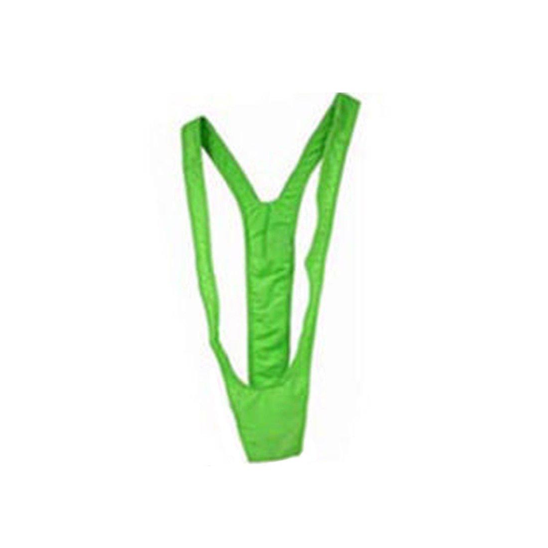 59ff48c4287de Borat Mankini Costume Green Swimsuit Mens Swimwear Thong Bikini Mankini EA   Amazon.com.au  Home