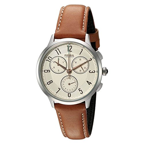 Fossil Women's CH3014 Abilene Chronograph Watch With Dark Brown Leather Band by Fossil