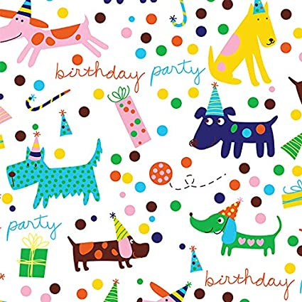 CHILDREN/'S BIRTHDAY WRAPPING PAPER 2 SHEETS OF THICK GLOSSY BOYS