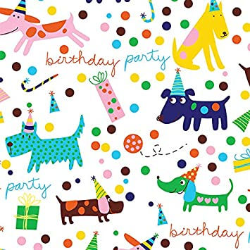 Amazon.com: barkday perro Fiesta de cumpleaños regalo (Hoja ...