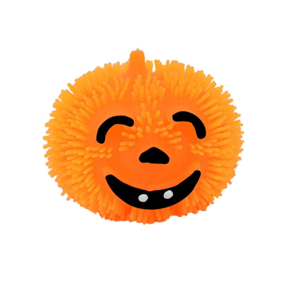 Singular-Point Halloween Toys Sale!! Light Up Halloween Pumpkin Stress Puffer Ball Release Squeeze Toy (a)