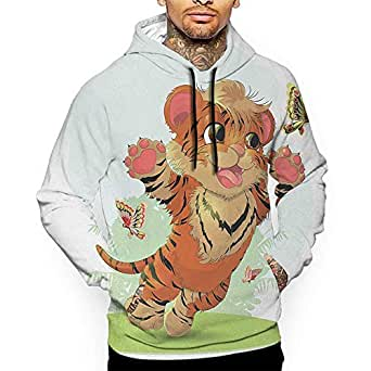 Hoodies Sweatshirt Autumn Winter Cartoon, Cub Playing with