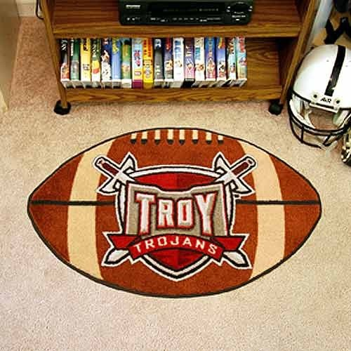 (Fanmats Sports Team Logo Troy Football Rug 22