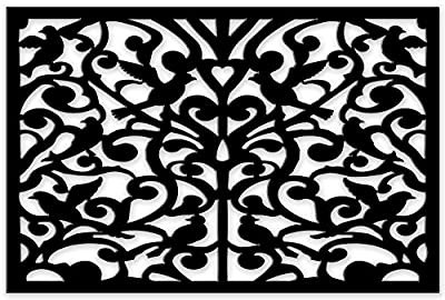 Acurio 3248ID-1-BK-GND Lattice Ginger Dove Panel Screen as Trellis, Patio & Outdoor Decor, Black