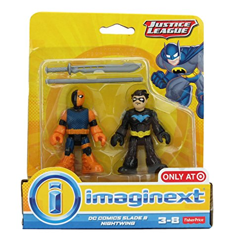 Imaginext, DC Comics Justice League, Slade (Deathstroke) and Nightwing Figures, 3 Inches