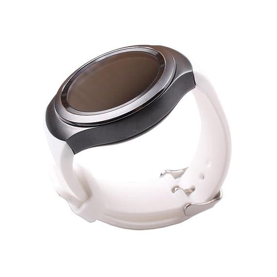 Perman lujo silicona reloj banda correa reloj para Samsung Galaxy Gear S2 SM-R720, color blanco: Amazon.es: Relojes