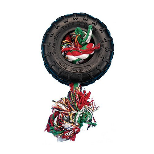 (Penn Plax PR8 Tire and Rope Dog Toy)