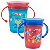 Nuby 360 Degree No Spill Cup, Mini, Pack of 2