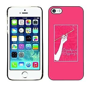 LASTONE PHONE CASE / Carcasa Funda Prima Delgada SLIM Casa Carcasa Funda Case Bandera Cover Armor Shell para Apple Iphone 5 / 5S / Cigarette Woman Pink Poster
