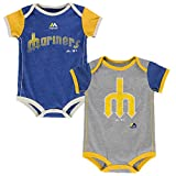 Seattle Mariners Vintage Baby / Infant Go Team 2 Piece Creeper Set