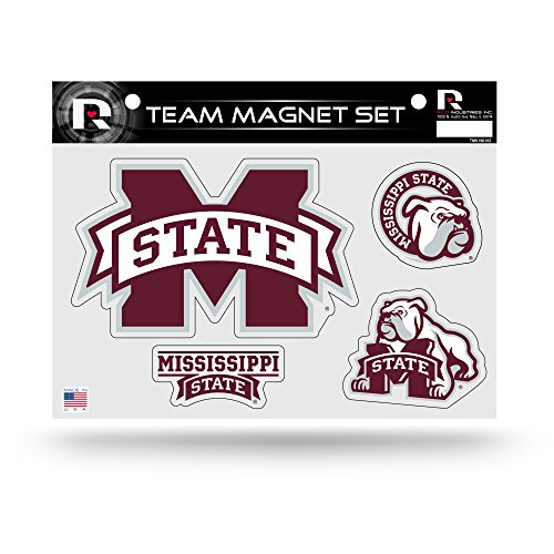 Rico Industries NCAA Mississippi State Bulldogs Die Cut Team Magnet Set Sheet
