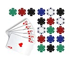 Poker Edible Cake Topper Royal Flush in Hearts Cake Topper Casino Chips