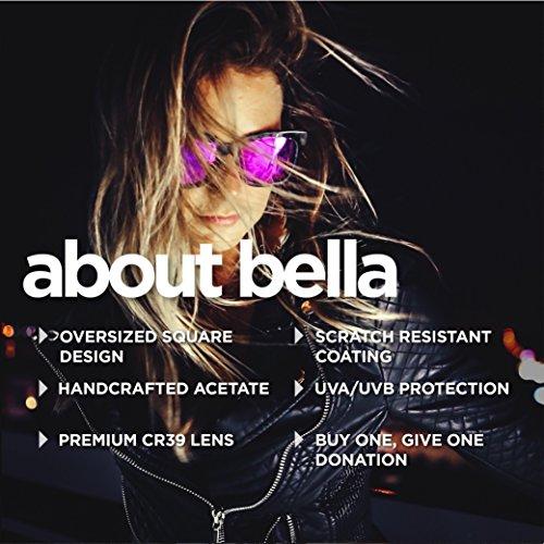Designer Sunglasses - Diff Eyewear - Bella - Square Glasses - 100% UVA/UVB by DIFF (Image #3)