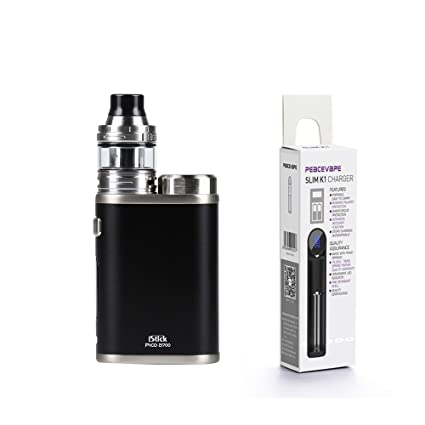 Eleaf iStick Pico 21700 ELLO 2mL Atomizador (Negro) Cigarrillo Electrónico con 1X21700 batería cargador