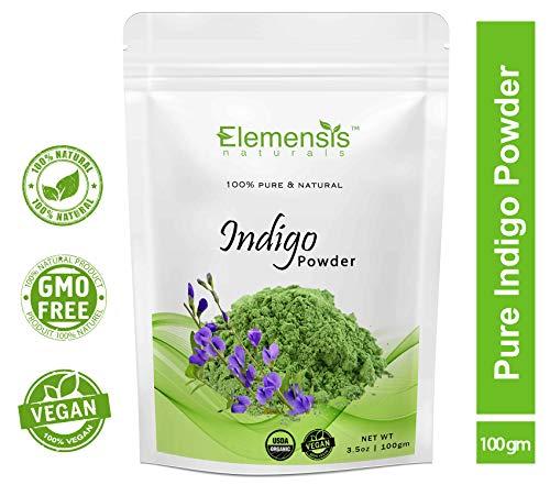 Elemensis Naturals Pure & Natural Indian Indigo Powder for Hair Care & Hair Growth, 100gm