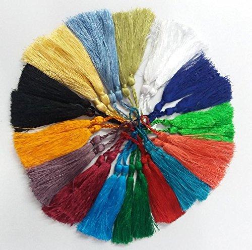 KIRANBEADS - 30 Pcs  Multi Color Silk Tassel Beautiful Neckl