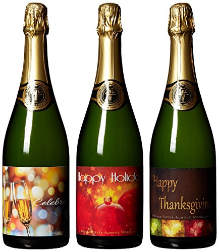 Wilson Creek Traditional Holiday Almond Sparkling Wine Mixed Pack, 3 x 750 mL