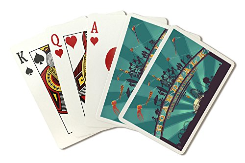 - Ocean City, Maryland - Boardwalk Sign (Playing Card Deck - 52 Card Poker Size with Jokers)