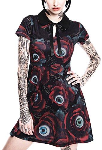 Killstar Kleid C U IN PARADISE COLLAR DRESS Schwarz 4R3ZFKId