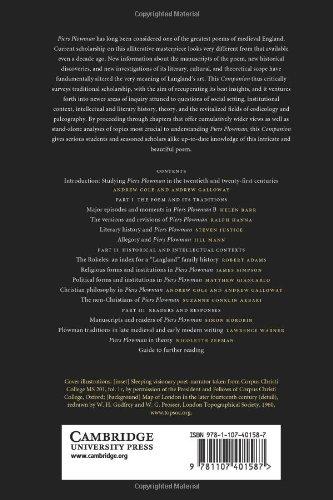 The Cambridge Companion To Piers Plowman Cambridge Companions To