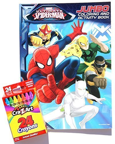 Marvel Ultimate Spider Man Jumbo Coloring And Activity Book With Cra Z Art Crayons By Bendon Publishing International