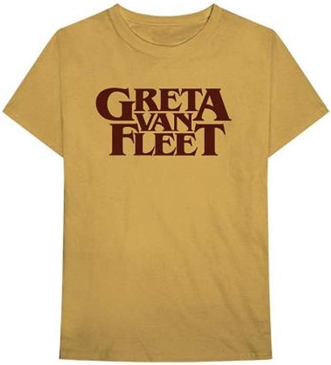 Greta Van Fleet Old Gold Logo T Shirt