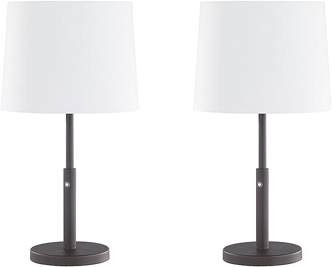 Juego de 2 hilver de lámpara de mesa LED con regulador de ...