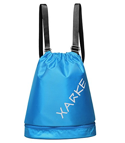 DEKINMAX Gym Sack Drawstring Backpack Yoga Bag Sports Gear Organizer