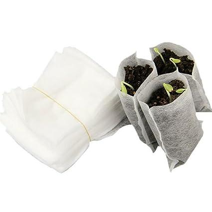 100pcs Nursery Pots Seed-Raising Bags Non-woven Fabrics Garden Supplies