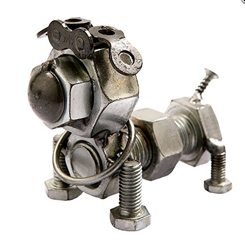 Collectible Art Sculpture Bolt Bulldog 3 Inch Figurine Made with Recycled Metal (Bulldog Metal Sculpture)